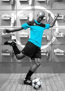 manichini sportivi: manichino calciatore