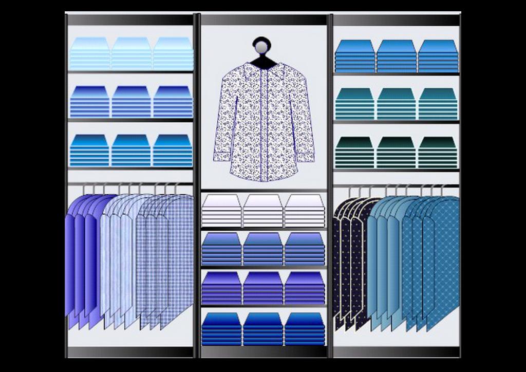 Esempio di planogramma per negozio di vestiti