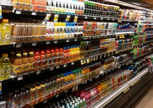 Shelf marketing in un supermercato